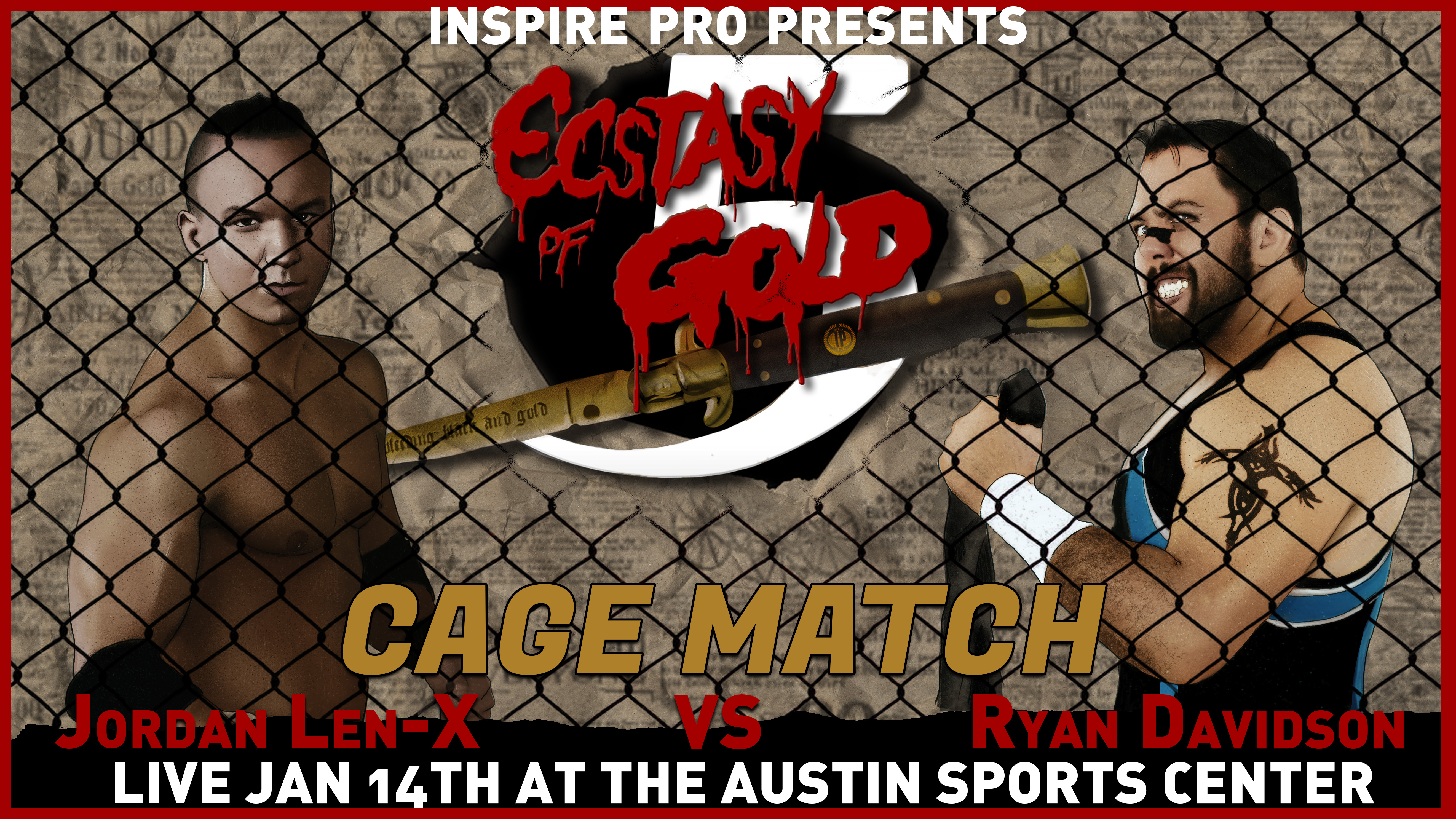 Ecstasy Of Gold 5 11418 In Austin Inspire Pro Wrestling Sorban Long Black Shirt Showing Up Late Is Not An Option Also We Have Added A New Stipulation The Winner This Matchup Will Go On To Challenge For Championship